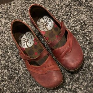 Romika red shoes.  Comfortable heel.Good condition